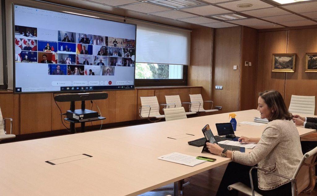 Reyes Maroto - turistminister - Spania - G20 - videomøte -2021