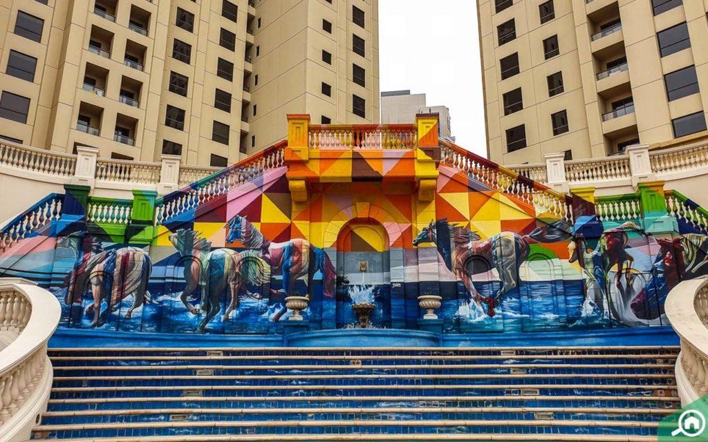The Walk JBR - Gatekunst - Street Art - Dubai - De forente arabiske emirater