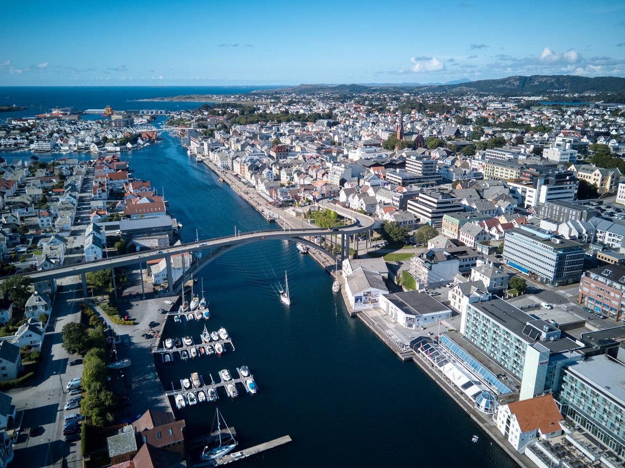 Risøybroen - Smedasundet - Haugesund -Dronebilde