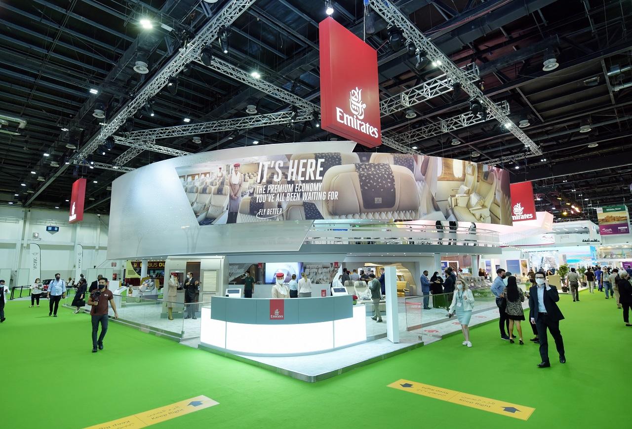 Emirates - Stand - ATM 2021 - Reisemesse - Dubai