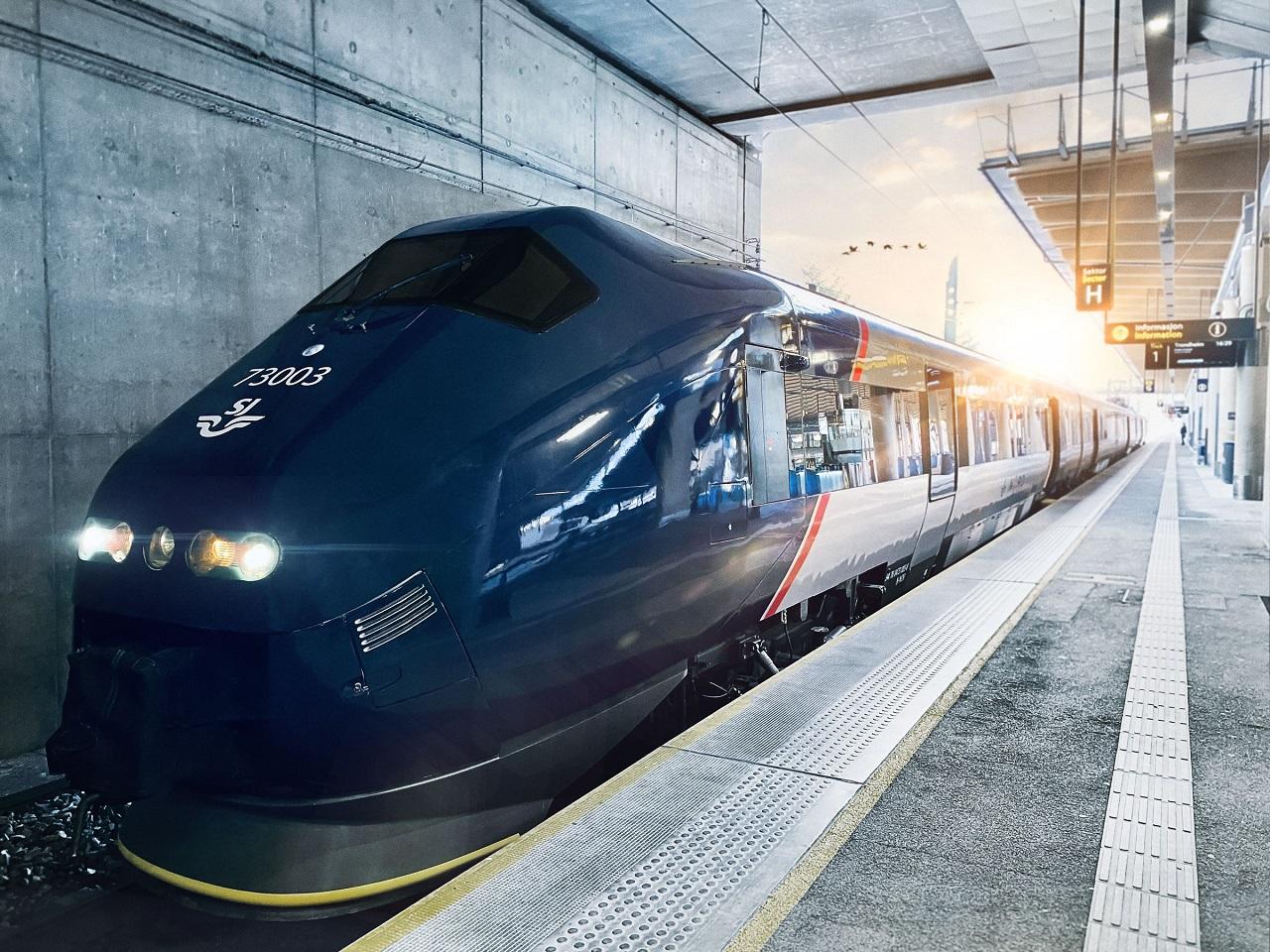 Togsett - jernbanestasjon - SJ NORD