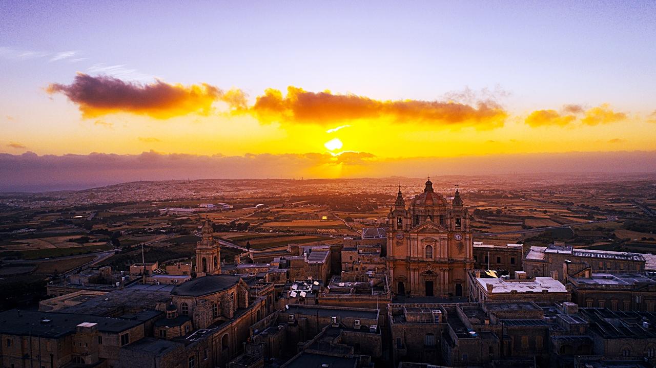 Soloppgang - Mdina - Malta - Middelhavet