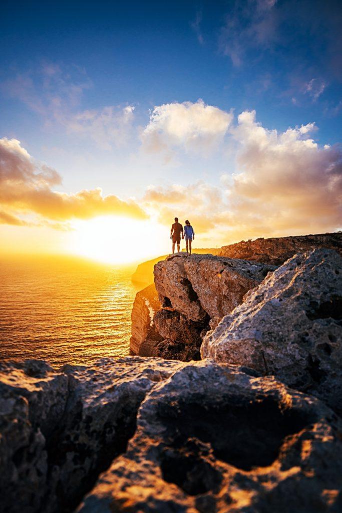 Par - Klippe - kyst - Malta - Middelhavet