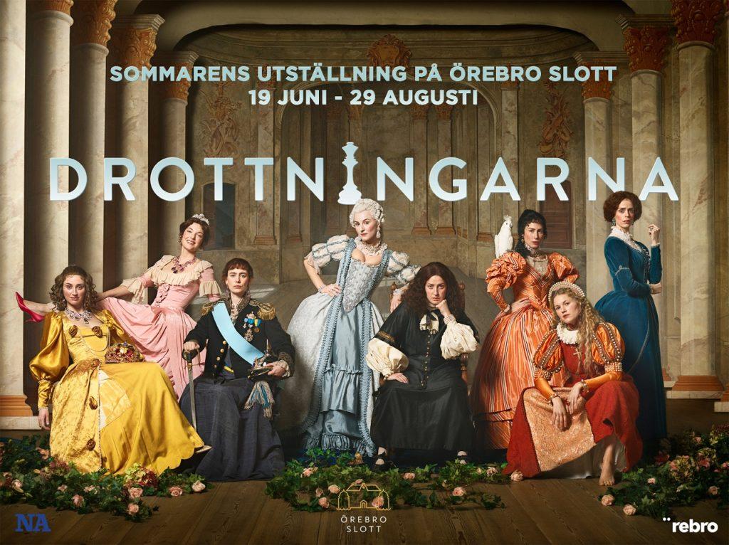 Utstillingsplakat - Drottningarna - Örebrokompaniet - Sverige
