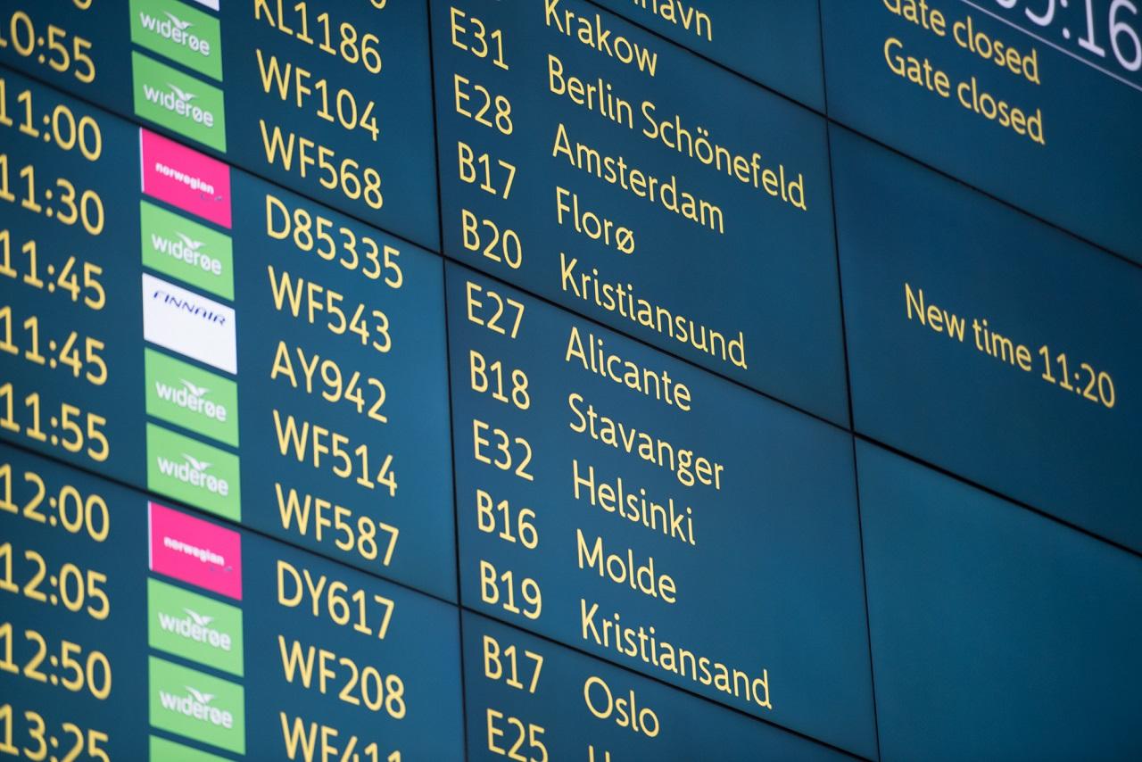 Reise - på flyplassen - avgangstavle