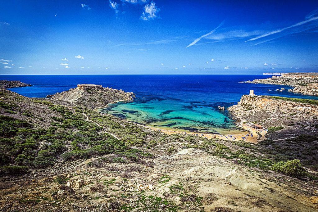 Ghajn Tuffieha bukt - Malta - Middelhavet