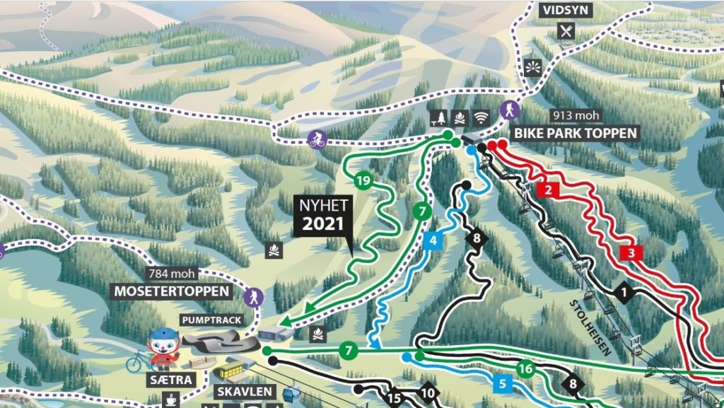 Ny sykkelløype - Hafjell Bike park - 2021