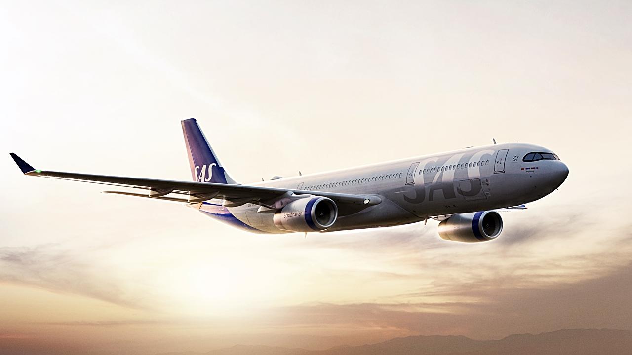 Airbus A 350 XWB - SAS - Soloppgang