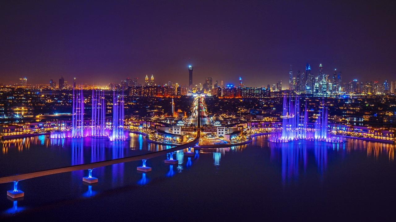 Nattestemning - The Palm Fountain - Dubai - UAE