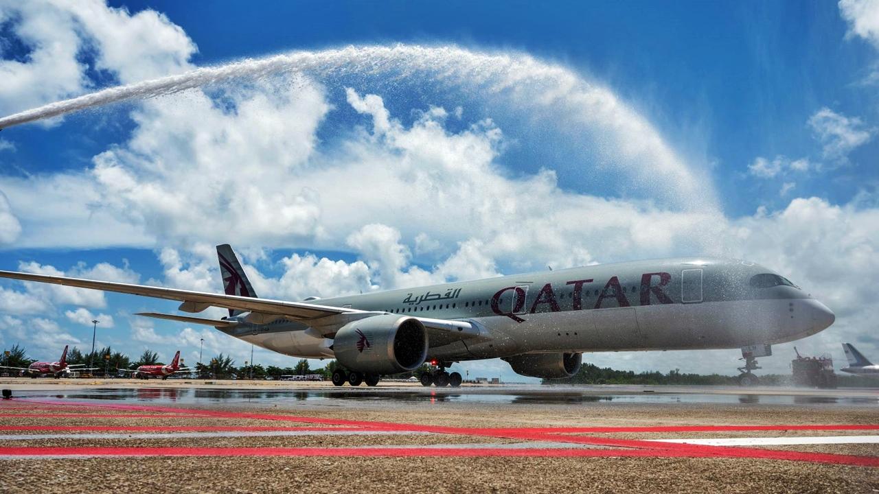 Airbus A 350 - Qatar Airways - Phuket - Thailand - 2. juli 2021